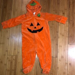 Pumpkin footed costume